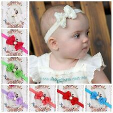Girl Kid Hot Items Rose Bow Baby Darling Newborn Hairband Lace Flower Headband
