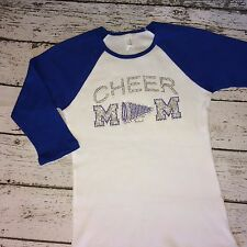 CHEER Mom Rhinestone  Raglan Shirt Step Mom