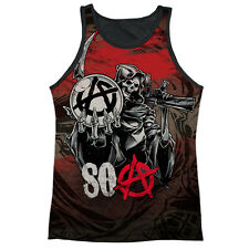 Sons Of Anarchy Reaper Ball Mens Tank Top Sublimation Black Back Shirt WHITE
