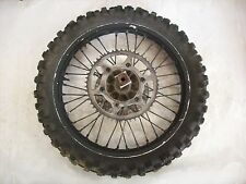 USED OEM 90 91 SUZUKI RM125 RM 125 REAR WHEEL RIM HUB & TIRE ASSY