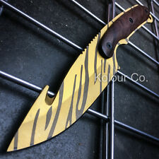 """8.5"""" CS GO Hunting Fixed Blade GUT KNIFE Full Tang TIGER TOOTH Tactical Bowie"""