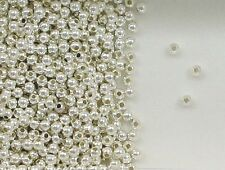 925 Sterling Silver 2.5mm Seamless Round Spacer Beads, Choice of Lot Size-Price