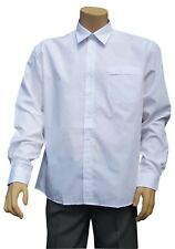 CATHEDRAL Dress Shirt Mens Long Sleeved Classic Polyester Cotton 15-18 Collar