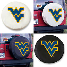 West Virginia Mountaineers Exact Fit Size Black or White Vinyl Spare Tire Cover
