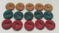 10 Pieces BLUE Red Brown Plastic Sewing Shirt Round Buttons 18mm