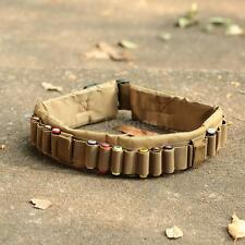 Tactical 25 Shotgun Shell Bandolier Belt Hunting Ammo Holder Belt Sling J8I9