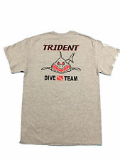Trident Dive Team Angry Shark T-shirt - Scuba Diving - Gray