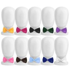New Boys Children Solid Bowtie Pre Tied kids Wedding Party Satin Bow Tie O6