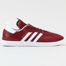 Adidas Skateboarding Men's Samba ADV Trainer Shoes Burgundy White Blue