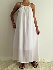 Women's White Summer Sleeveless Floaty Maxi Evening Party Dress Size 14,16,18