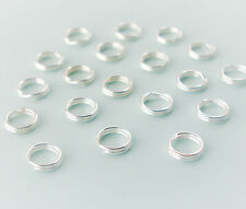 Sterling Silver Split Jump Rings 5mm Double Looped, QTY 10 20 50, USA Seller