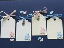 10 BEAUTIFUL  PLACECARDS/ /WISHING TREE/GIFT/ BABY SHOWER TAGS WITH RIBBON