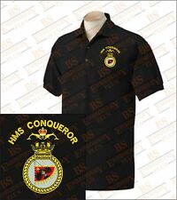 HMS Conqueror Embroidered Polo Shirts