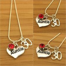 Personalised Birthday Necklaces for mum sister daughter cousin 13th 21st 30th