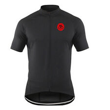 Men's Vintage Cycling Jersey Shirts Coolmax Bicycle Cycle Jersey Top Black S-5XL