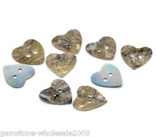 Wholesale lots Mother of Pearl Heart Sewing Buttons Scrapbooking HIGH QUALITY