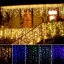 3.5M LED Christmas Xmas Fairy String Net Lights Wedding Curtain Party Lamp Decor