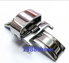 New 12-14-16-18-20-22mm Stainless Steel Butterfly Deployment Buckle Wrist Watch