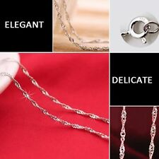 Accessories Silver Plated Water Wave Ripple Chain Necklaces 40cm And 45cm