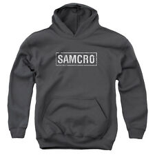 Sons Of Anarchy Samcro Big Boys Youth Pullover Hoodie CHARCOAL