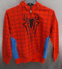 NWT Marvel Spiderman Spider Man Full Face Mask Perforated Mesh Zipper Hoodie