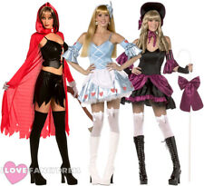 LADIES REBEL TOONS FANCY DRESS DARK FAIRY TALE COSTUME ADULT HALLOWEEN OUTFIT