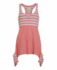 New Womens Superdry Factory Second Vintage Thrift Pocket Tank Dress Coral
