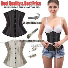 Women Steel Boned Sexy Waist Training Corset Bustier Top Body Shaper Lingerie FE