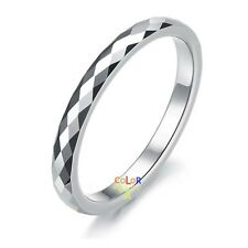 Silver Tungsten Carbide Wedding Engagement Band Promise Ring Classic Unisex
