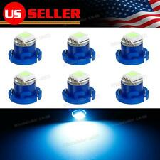 6x Ice Blue Auto AC Control Fan Heater LED Lights Bulbs T4.7 T5 Neo Wedge 12mm