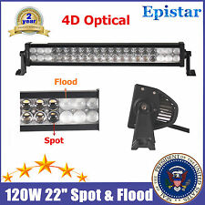 "4D+ 22inch 120W LED Light Bar Work Combo Flood Spot Off Road 4X4WD ATV 12/14"" US"