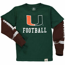 Miami Hurricanes Wes & Willy Youth W&W Football Fooler   T-Shirt - Green
