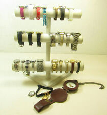 Lot of Mens & Womens Jewelry Watches w/ Fossil Lorus Seiko AS IS