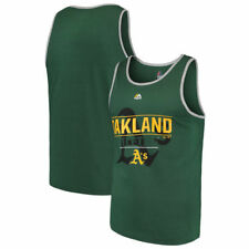 Oakland Athletics Majestic Home Field Advantage Tank Top - Green - MLB
