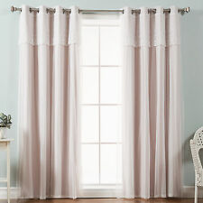 Best Home Fashion, Inc. Mix & Match Tulle Sheer Blackout Curtain Panel Set of 2