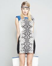Serpent Print Panelled Party Dress by Shakuhachi 80% off NWT