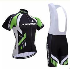2018 Merida Cycling Bib Kit Short Sleeve Jersey Bib Shorts Coolmax Set S-5XL