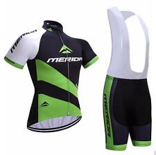 2018 Merida Bike Clothes Set Cycling Jersey Padded Bib Shorts Coolmax Kit S-5XL