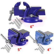 """4"""" 5"""" 6"""" Heavy Duty Work Bench Vice Vise Workshop Clamp Engineer Jaw Swivel Base"""