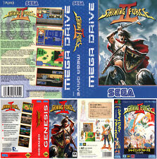 Shining Force 2 UK EU JP Sega Megadrive Replacement Box Art Sleeves Insert Case