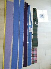 Trefriw Welsh wool fabric patchwork pieces