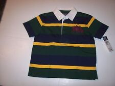 NEW POLO RALPH LAUREN green blue stripe Dual Match short sleeve shirt 3 3T