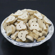 2 Holes Buttons Sewing Scrapbooking Apple Shape Wood Sewing Buttons