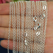"Hot!Wholesale 10pcs 16""-30"" 925 Sterling Silver plated 2mm ""O"" Chain Necklace"