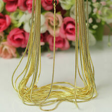 "Wholesale Lots 10pcs 18K Yellow Gold Plated 1mm Snake Chain Necklace 16""-30"""