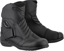 Alpinestars Mens Leather Black New Land Motorcycle Riding Street Racing Boots