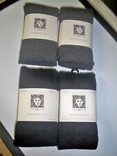 Woman's Anne Klein Sweater Knit Tights Gray or Black