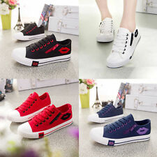 Women Lady Sneakers Mouse Print Casual Lace Up Low High Top Canva Shoes Trainers
