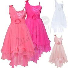 Flower Sequin Girl Princess Dress Kid Party Pageant WeddingBridesmaid Tutu Dress