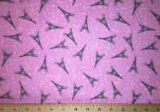 Pink Paris Fabric Eiffel Tower Toss France Michael Miller Cotton Fabric t5/5